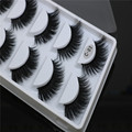 100% Korea Mink Fur 3D False Eyelash Luxurious Natural Messy Volume Fluffy Long Hot Fake Eyelashes 5 Pairs/Box