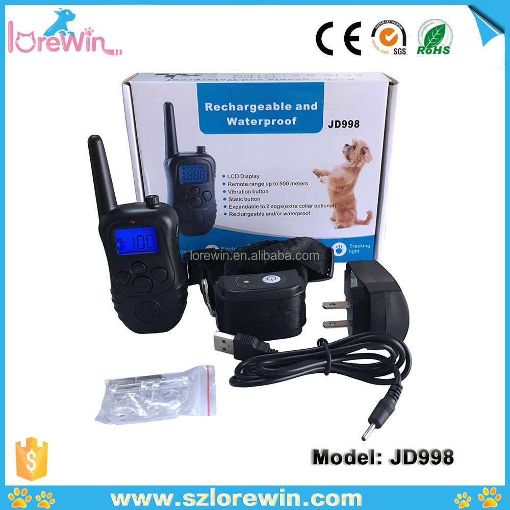 Multi-dog training system remote electronic shock training collar JD998