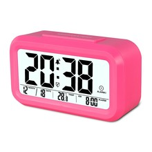 Popular Digital Type Transparent LCD Alarm Clock With Nightlight And Snooze Function For Kids