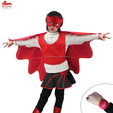 Special Child Red Butterfly Wings Cape Mask Cuff Party Cosplay Costumes Enfant Carnival Halloween Wing Cloak