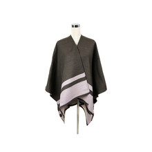 Winter Lady'S Fashion Woven Embroidered CashmereTassel Blanket Knitted Ponchos Shawl Poncho