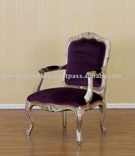 Silver Furniture - French Reproduction Chair Purple