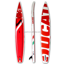 14' race paddle board surfboard inflatable double layer SUP OEM windsurf kitesurf for sale