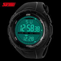 2016 hot sale high quality SKMEI 1025 5ATM Waterproof relojes de marca Fashion Diving Sports LED Digital Watches