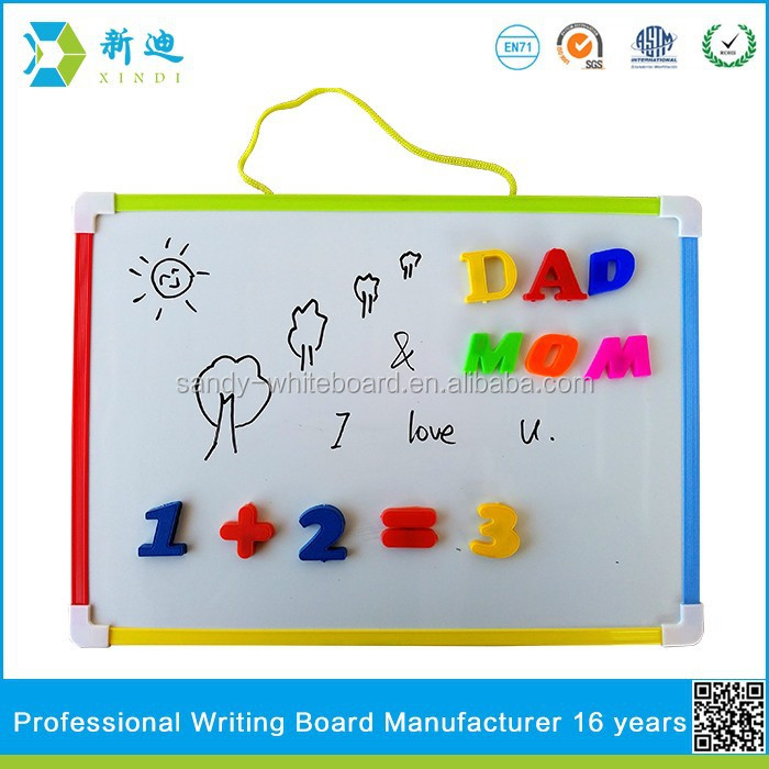Lanxi xindi magnetic whiteboard for children fridge and memo board