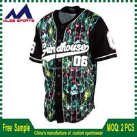 2017 Pro baseball jerseys customized cheap blank softball wear wholesale
