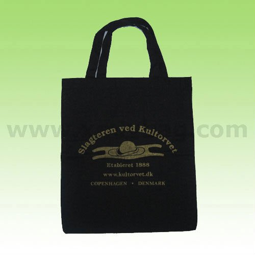 Promotional Black Cotton Gift Bag
