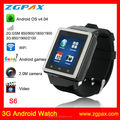 hot sell GSM 3G Android watch camera phone