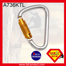 New HMS Design Made In Taiwan Climbing Carabiner Made Of Aluminum