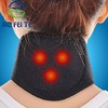 Black Heating Tourmaline Magnetic Neck Heat Therapy Support Belt Wrap Brace Pain