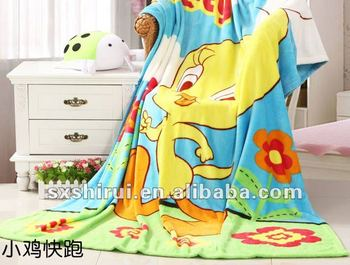 100% polyester carton designs 2.0 baby coral fleece blanket