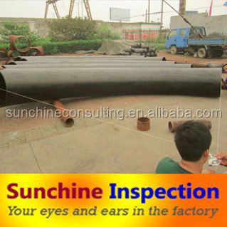 pre shipment inspection of Stainless steel pipe Quality control service in China