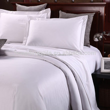 100% cotton white hotel bed linen/bed sheets/bedding set