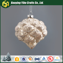 clear glass christmas balls wholesale angel hair christmas decoration