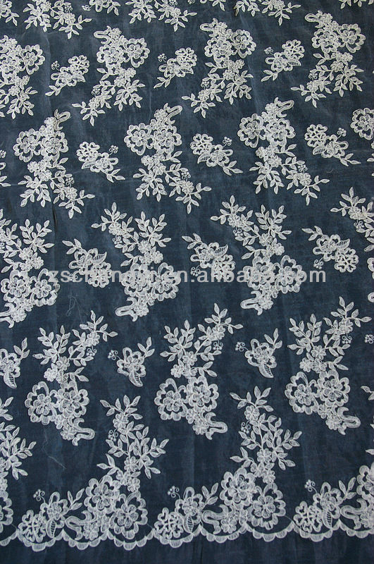 ivory embroidery cotton guipure corded lace fabric wholesale for wedding dress apparel accessory lace