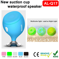 2016 Promotion new Wireless bathroom sucker IPX7 waterproof bluetooth shower speaker for bicycle