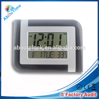 Hot sale LCD display large digital wall clock with date