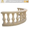Curved shape golden marble balustrades for balcony