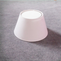 white cone plastic lampshades with light barrier for table lamp,mini bulb light covers