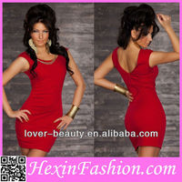 Wholesale Red Sexy Tight Summer Dresses New Fashion Western