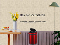 New design home container electronic infrared sensor automatic smart dustbin 8L