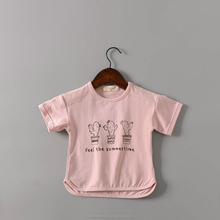monroo New design korea children t shirt lovely children cartoon t-shirt