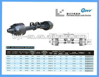 Truck trailer axles for car boat trailer 12T German type/American type axle beam