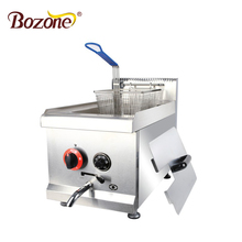 CE Approved Counter Top Deep Fryer Oil Filter Machine 1 Tank 1 Basket 14 L Electric Commercial Potato Chips Gas Deep Fryer