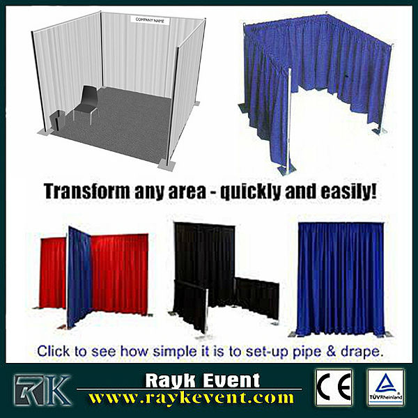 Singapore wholesale aluminum truss trade show booth/ used pipe and drape systems