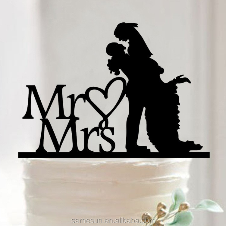 Romantic crylic cake topper for wedding