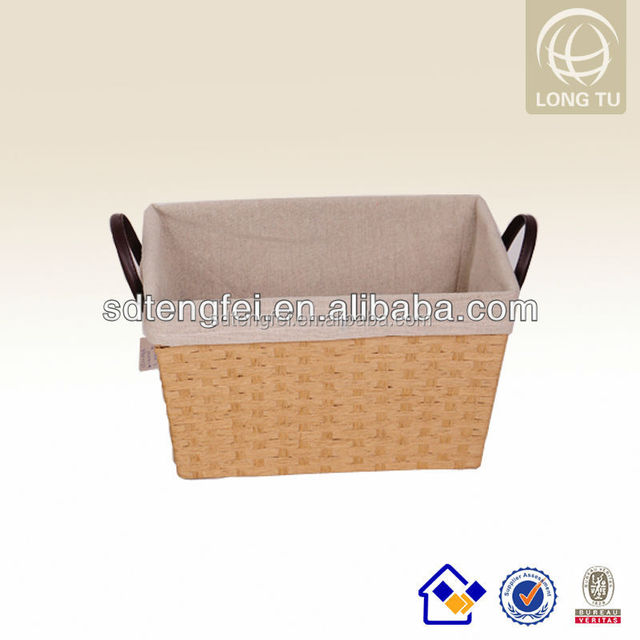 201 Home decoration and gift paper baskets with fabric lining empty for Christmas