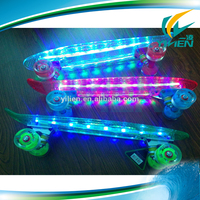 New 22inch Led Skateboard Mini Cruiser, Fish Board With Flashing Light for Sale