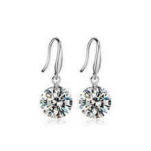 ONLY FOR OpenSky fashion 925 Sterling Silver Earrings with cubic zirconia women earings KE407S Moonso