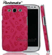 Hotpink Cartoon Design Case Mobile Phone Accessories For Samsung Galaxy S3 I9300 Electric Cover