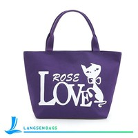 New Fashion High Quality Lady Canvas Handbag Made in China