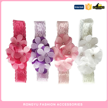 Kids wholesale lace hairband headband flower