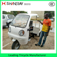 motorized China cargo tricycle with semi closed cabin tricycle disabled tricycle