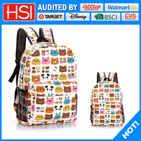 2016 new designed products fashion style canvas school bag