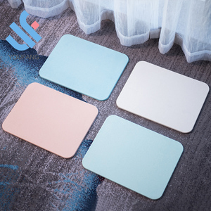 YF-M0004 diatomaceous earth 60% water absorbent fast dry anti-slip deodorant non-slip bathroom floor mat diatomite foot pad