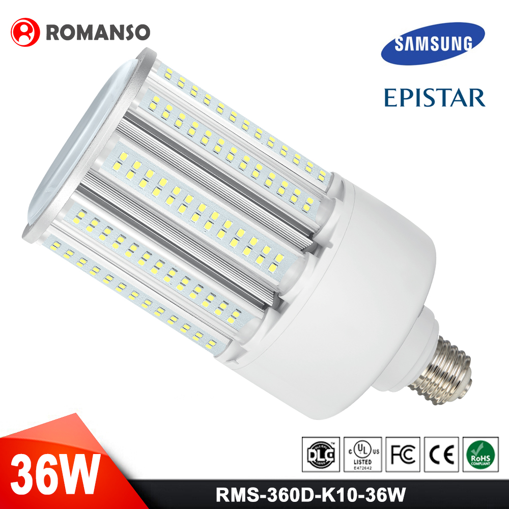Ce Rohs Listed Energy Saving Lamp 85-265V Ip64 Epistar Smd2835 Chip E27 E40 24W 40W Cob Led Corn Light