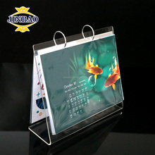 JINBAO thick a4 acrylic calendar/perspex sign holder on table/plastic display stand