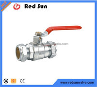 brass ball valve with long handle for water and gas