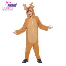Directly factory sell kids cute reindeer halloween onesize costume