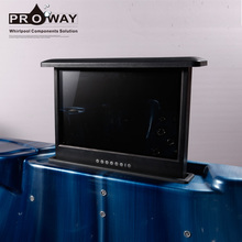 Optional Size TV For Relax Life Bathtub Spa Outdoor Bath Tub Waterproof Pop-up TV for Massage Hot Tub