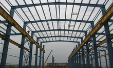well designed steel structure building for logistic warehouse