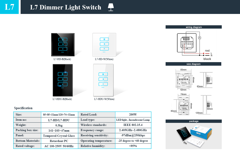 2019 new !!Lanbon exclusive patent wifi & zigbee alliance wifi light dimmer support google home amazon echo