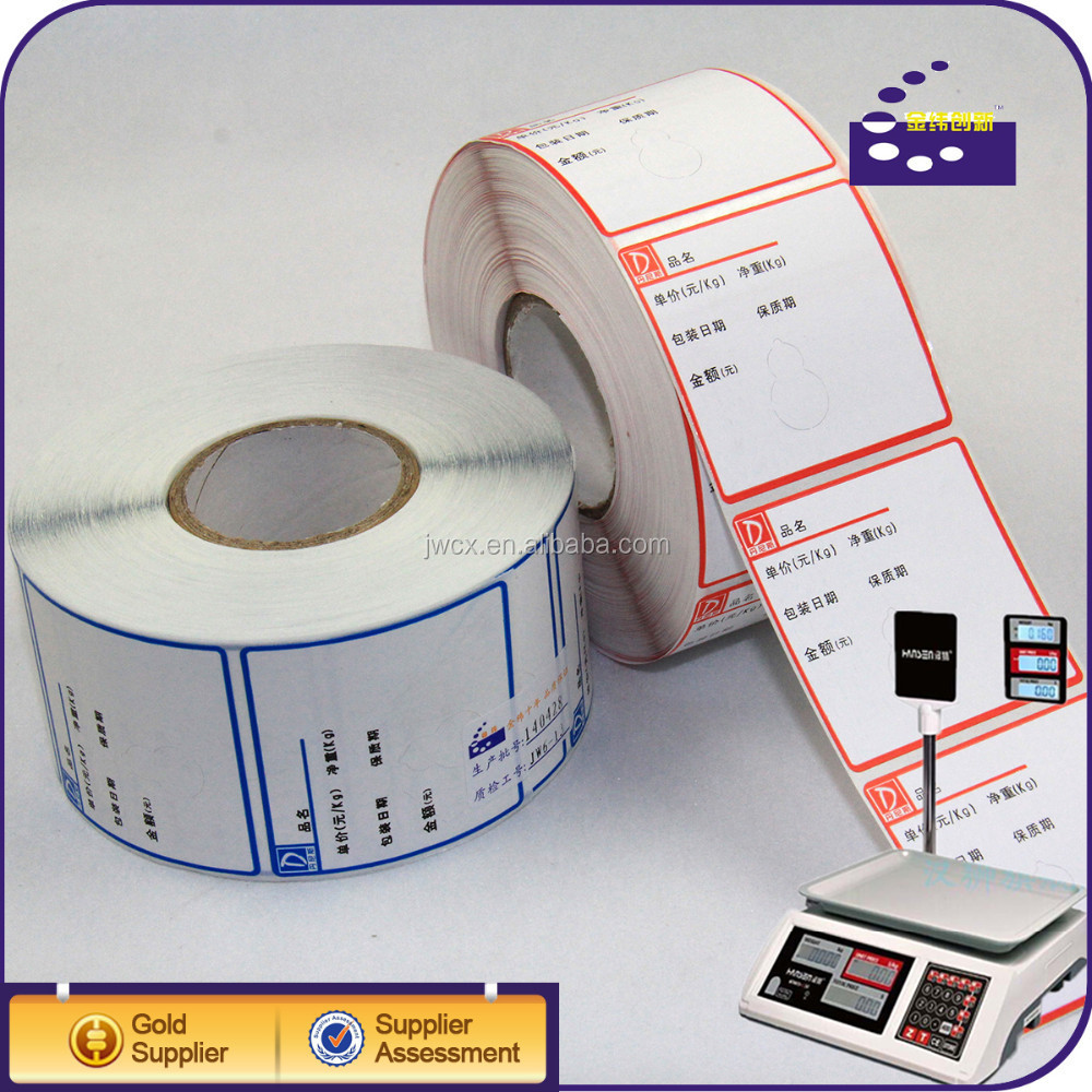 Customized waterproof self adhesive roll label sticker printing 4x6 direct thermal labels