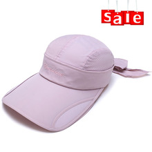 Detachable polyester material running visor, women golf cap