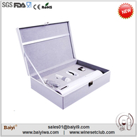 2014 new pubilished charming dry battery wine opener set