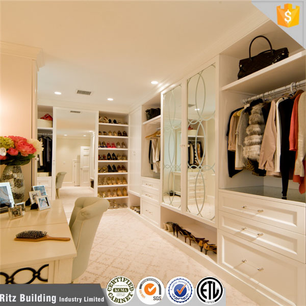 Wholesale wood wardrobe pet closet bedroom wardrobe design walk-in closet design